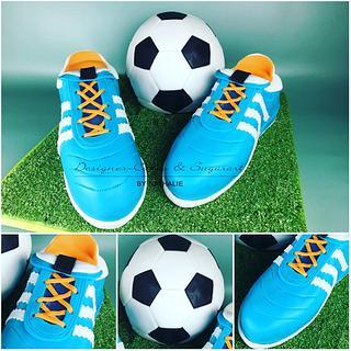 soccer boots - boys cake