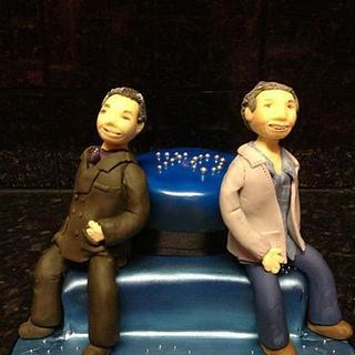 Twins 70th - Cake by Carole Wynne