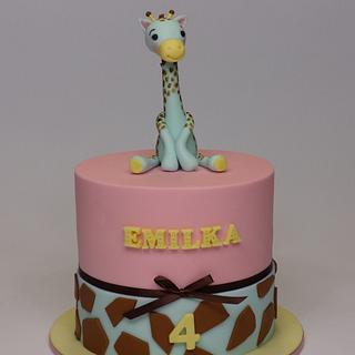 Giraffe cake for girl