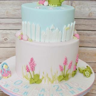 Beatrix Potter Christening cake