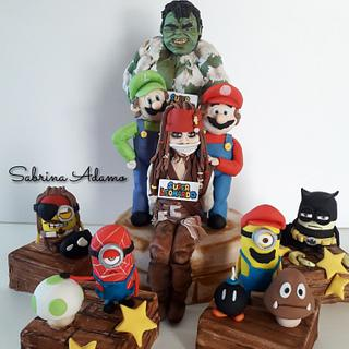 Super Mario and friends