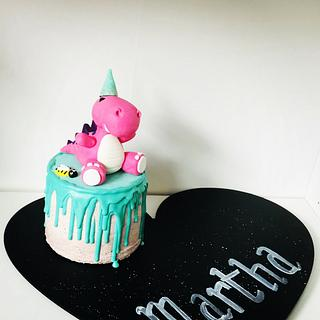 Cute partysaur mini cake