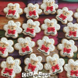 Abundante mexican cookie sheep total icing snd Fondant