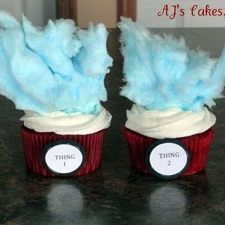 Thing 1 and Thing 2 Cupcakes - Cake by Amanda Reinsbach