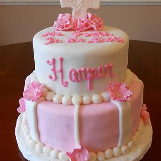 Baptism Cake - Cake by CakesbyMayra
