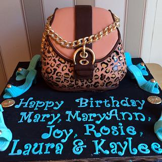 Leopard Purse - Cake by CakeJeannie