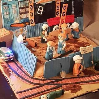 man on work cake