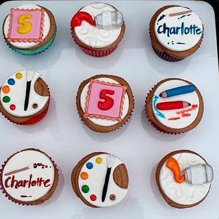Artist cupcakes