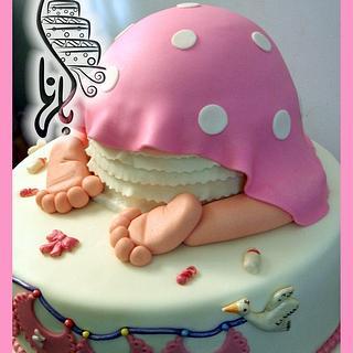 Baby Bottom cake - Cake by Dina