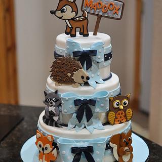Wildlife Baby Shower Cake