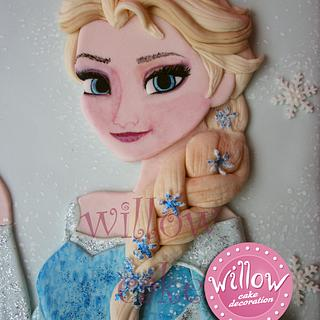 """Elsa """"Frozen"""" cake - Cake by Willow cake decorations"""