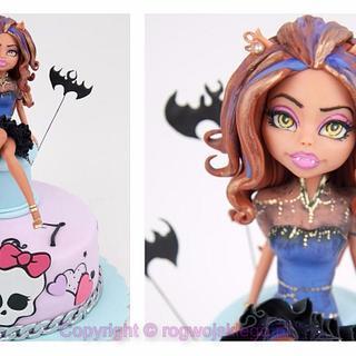 Monster High Doll cake tort