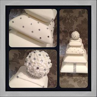 wedding pillow bling cake