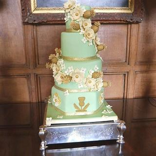 Roses & thistles wedding cake - Cake by Beth Mottershead