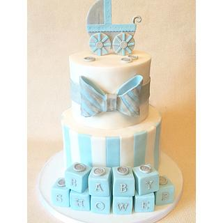 Blue and Silver Baby Shower!
