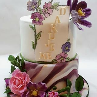 floral in violet