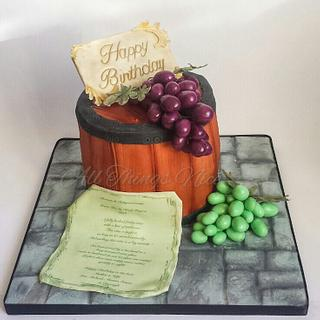 Wine Barrel  - Cake by All things nice