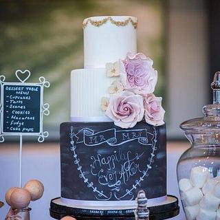 Chalkboard Wedding Cake - Cake by CakeyBakey Boutique