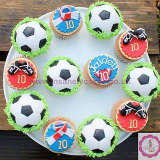 Football Birthday Celebration Cupcakes