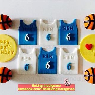 Basketball Themed Red Velvet Cupcake - Cake by Jac