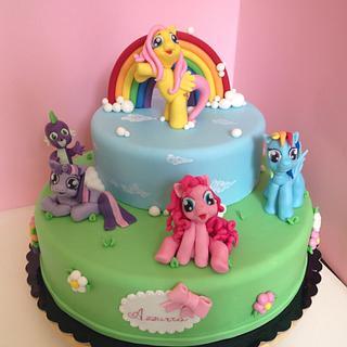 My little pony - Cake by Nennescake
