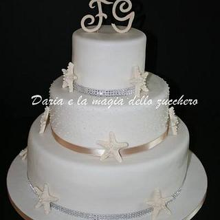 starfish wedding cake