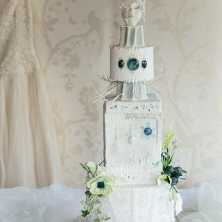 Cool as Ice - Winter Wedding Cake