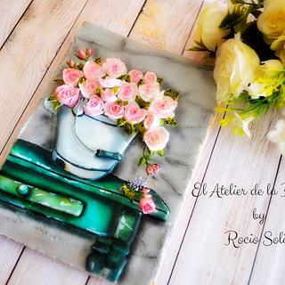 Mesa de Flores Vintage - Cake by El Atelier de la Repostería