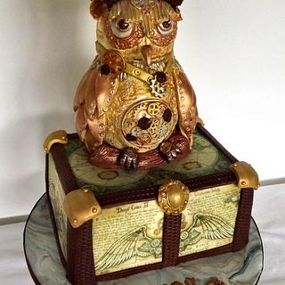 Spooky Steampunk Owl cake! :)