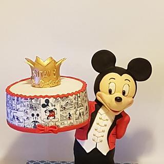 Mickey mouce gravity cake
