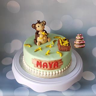Monkey - Cake by Pluympjescake