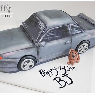 Skyline carved cake