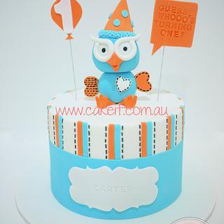 Giggle and Hoot 1st Birthday - Cake by Lydia Evans