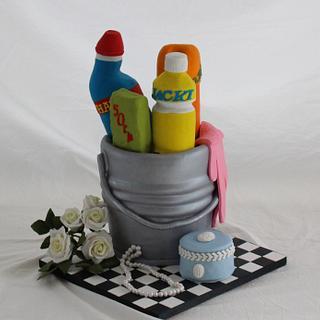 Classy cleaner cake