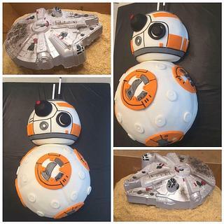 Star Wars BB-8 and Millennium Falcon