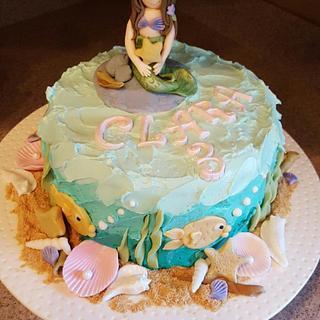 Mermaid Birthday For Clara! - Cake by kitchenkapers
