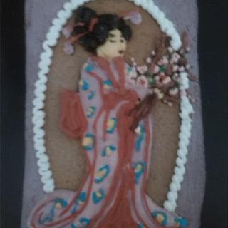 cherry blossom geisha - Cake by Catalina Anghel azúcar'arte