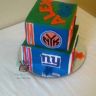 Sports Fan 2 Tier Birthday Cake
