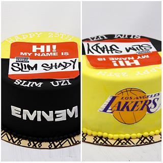 Eminem/Lakers cake  - Cake by soods