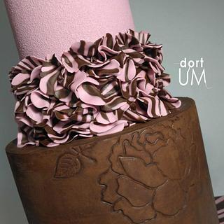 Simple design cake