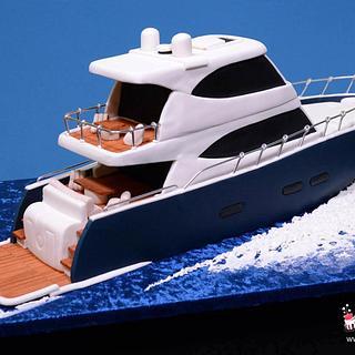 3D Cruiser Yacht Cake