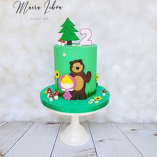 Masha and the bear - Cake by Maira Liboa