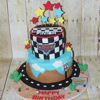 Cars Themed Birthday Cake Radiator Springs