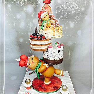Tower cake Christmas