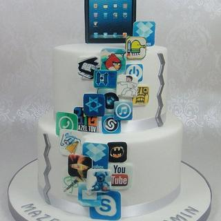 iPad, iPhone, Apps, App World Birthday / Bar Mitzvah Cake