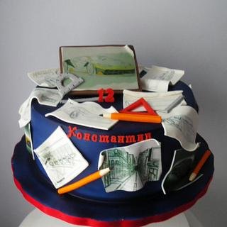 Car designer cake