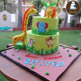Jungle Animal Cake - Cake by Leela's Cake