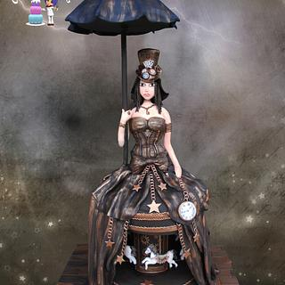 Steampunk Cake with motion