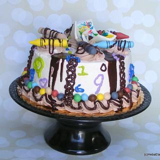 #2 nephew's art cake1