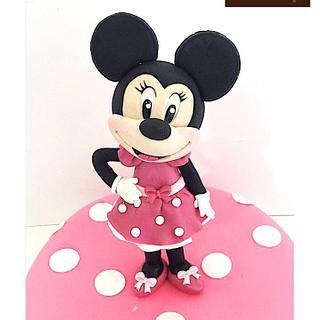 Minnie cake  - Cake by  Vale Logroño